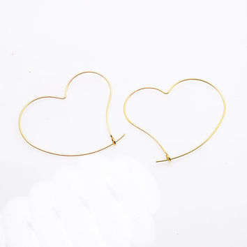 New fashion jewelry heart design hoop earring gift for women girl 1lot=2pairs E3305
