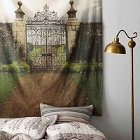 Plum & Bow Country Gates Tapestry- Grey One