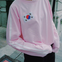 Double Stripe Korean Flag Pullover