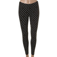 Kate Spade Womens Stretch Polka Dot Leggings