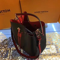 DCCK L013 Louis Vuitton LV Lockme Bucket Fashion Handbag 24.5-27-15 Black