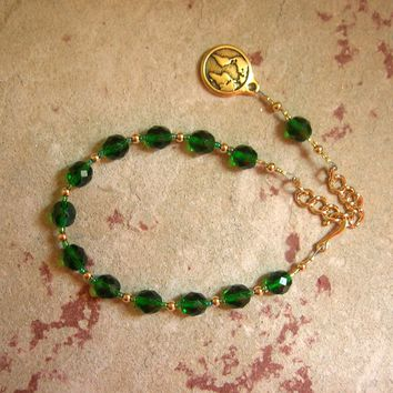 Gaia (Gaea) Prayer Bead Bracelet: Mother Earth, Mother of the Greek Gods, Mother of All That Is.