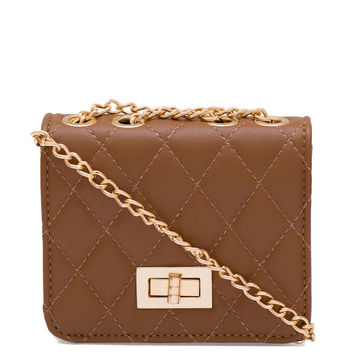 Lower Case Mini Clutch - Brown