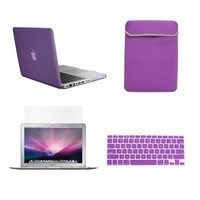 "TopCase Macbook Pro 13"" 13-inch (A1278 / with or without Thunderbolt) 4 in 1 Bundle - Rubberized Hard Case Cover + Matching Color Soft Sleeve Bag + Silicone Keyboard Cover + LCD HD Clear Screen Protector - NOT FOR RETINA DISPLAY - with TopCase Mouse Pad (P"