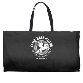 camp half blood long island Weekender Totes