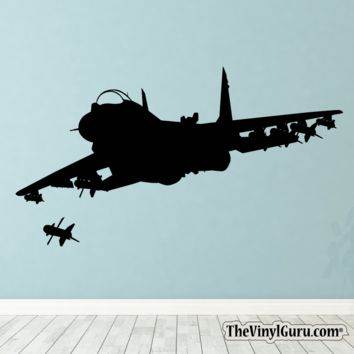Airplane Jet Figther War Plane Wall Decal I
