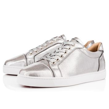 Cl Christian Louboutin Seavaste Flat Silver Leather 18s Shoes 1180256sv20 - Best Online Sale