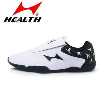 Taekwondo Shoes Martial Arts Sneaker Boxing Karate Kung Fu Tai Chi Shoes Black Stripes Sneakers Lightweight Shoes for Men Women