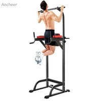 ANCHEER Chin Up Bar Adjustable Abs Workout Knee Crunch Triceps Station Power Tower Pull up Bar Sport Fitness Equipment Exercise