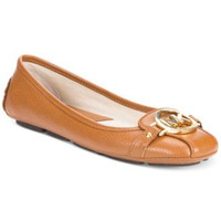 MICHAEL KORS SAFFIANO MOC FLATS LUGGAGE LEATHER 5M