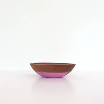 Cherry Wood Bowl By Willful, Purple and Black Swirl, Snack Bowl, Solid Wood Bowls