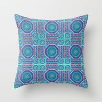 Mandala Tiles Throw Pillow by Sarah Oelerich