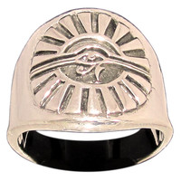 Egyptian Eye of Horus Ring Eye of Ra Udjat in Bronze