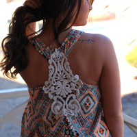 Sweet Emotion Top: Teal/Tangerine - Off the Racks Boutique