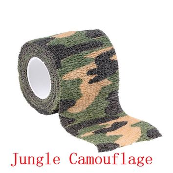 2pc Hot Worldwide 2 Roll Camo Stretch Bandage Camping Hunting Camouflage Tape for Gun Cloths