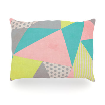 "Louise Machado ""Geometric Pastel"" Oblong Pillow"