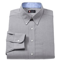 Chaps Classic-Fit Oxford Solid Button-Down Collar Dress Shirt