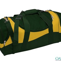 Wholesale Amazon Green and Yellow Duffle Sports Bag Manufacturers & Suppliers 2016
