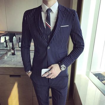 2017 Men's Suit Three-piece Casual Business. Free Shipping