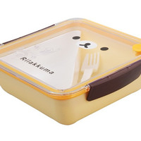 Cute Rilakkuma Design Square Lunch Box with Fork Sz L (Yellow)