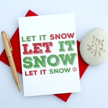 Christmas Card, Sexy Christmas, Naughty Christmas, Funny Christmas, Cute Christmas, Seasonal Card, Romantic Christmas, Let It Snow