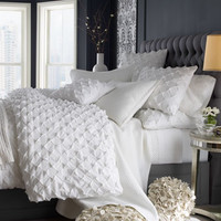 Puckered Diamond Bed Linens