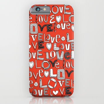 l o v e LOVE red iPhone & iPod Case by Sharon Turner