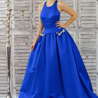 Jovani 32201 In Stock Royal Size 0 Satin Ballgown Prom Pageant Dress