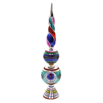 Shiny Brite CC FINIAL WITH REFLECTOR Glass Tree Topper 4027617.