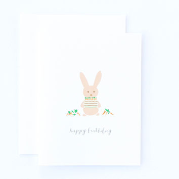 Happy Birthday Carrot Cake Card