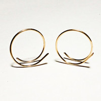 Small Gold Hoop Earrings 14kt Gold Filled Hammered Hoop Earrings Small Gold Hoops Gold Earrings Tiny Gold Hoops Affordable Jewelry Gift Idea