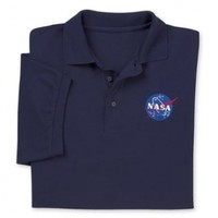 ComputerGear NASA Meatball Logo Polo Shirt - Officially Licensed by ComputerGear
