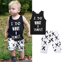 Pattern Letter Toddler Boys Clothing Set