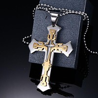 Triple Cross Knights Templar Necklace