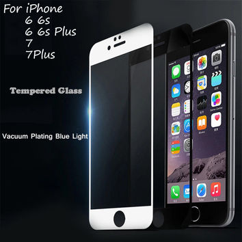 Full Screen Protection Tempered Glass For iPhone 6 6S Screen Protector Film Glass On The Apple iPhone 5 5S 5C SE 6 6s 7 Plus 9H