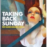 Taking Back Sunday - Self Titled - Rare Advertising Poster - 11x17