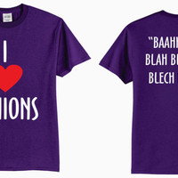 "Adult ""I (Heart) Minions""  Evil Purple Minion Despicable Me T-Shirt"