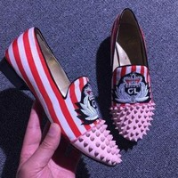 DCCK2 Cl Christian Louboutin Loafer Style #2372 Sneakers Fashion Shoes
