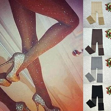 LNRRABC Sexy Solid Colored Nylons Lady Tights Women's High Elasticity Seamless Pantyhose Female Diamonds Tight