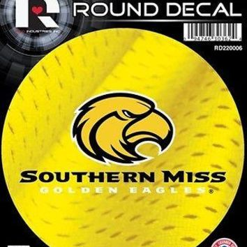 "Southern Miss Mississippi Golden Eagles 4"" Round Decal Sticker University of"
