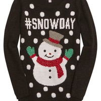 SNOWDAY HOLIDAY SWEATER | GIRLS {CATEGORY} {PARENT_CATEGORY} | SHOP JUSTICE