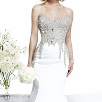 Tarik Ediz White G1018 Dress