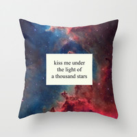 a thousand stars Throw Pillow by Tangerine-Tane