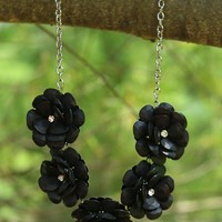Beautiful Blooms Necklace in Black