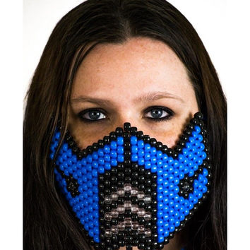 Neon Blue Sub Zero Full Size Mask