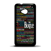 the beatles typography song lyric HTC One M7 Case