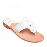Jack Rogers Original Navajo Sandals-- White