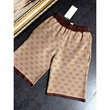 GUCCI Fashion New More Letter Print High Quality Leisure Women Shorts