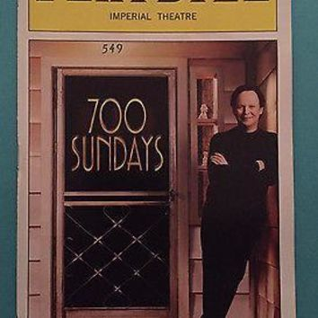 700 Sundays Opening Night Playbill