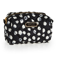 Crosby Quilted Polka-Dot Cosmetic Bag, Black Multi - MARC by Marc Jacobs